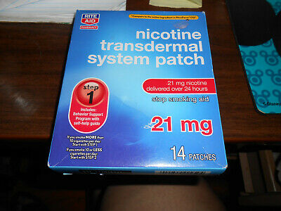 2 boxes rite aid nicotine transdermal patches! 28 count 21mg step 1 exp. 02/2020