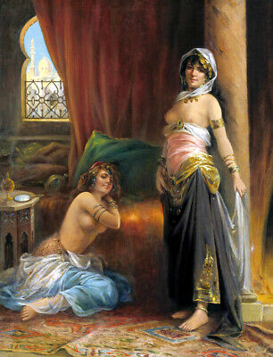 Harem nude girl Oil Painting Picture Giclee Art Printed on canvas L2683