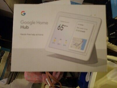 """Brand New Google Home Hub with Google Assistant Smart 7"""" Display - Chalk Grey"""
