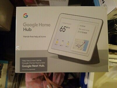 Google Home Hub with Google Assistant (GA00515-US) - Charcoal (6290306) NEW
