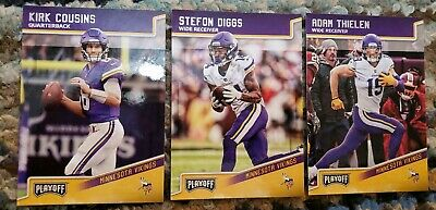 c4f2fe67 MINNESOTA VIKINGS (27) Card Lot Adam Thielen + JERSEY, AUTO, KIRK ...