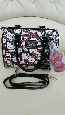 edaaa9340 HELLO KITTY LOUNGEFLY Wallet Pastel Pink White Classic Vintage Print ...