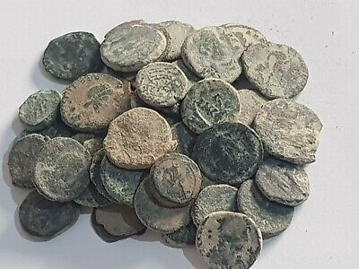 Superb  Lot Of 50  Ancient Roman  Bronze Coins Partial Clean Very Interest