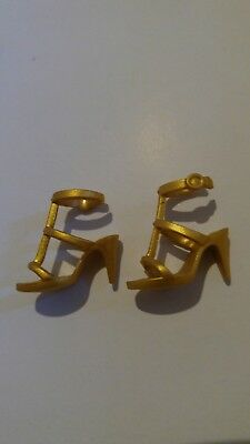 Model Muse Barbie Doll Nighttime Glamour Gold Sandals High Heels