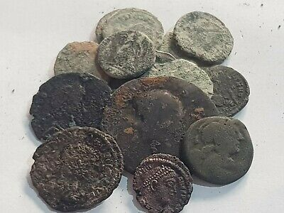 Imazing Lot Of 15 Ancient Bronze Roman Coins Very Interest