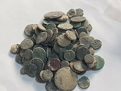 Lot Of 120 Ancient Roman Bronze Coins Partial Clean (Low Condition)Very Interest