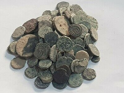 Huge Lot Of 120 Ancient Roman Bronze Coins Partial Clean Very Interest