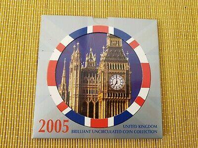Royal Mint 2005 United Kingdom Brilliant Uncirculated Coin Collection Folder Set