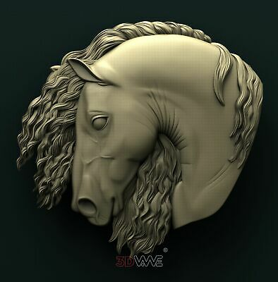 3d STL Model Relief for CNC Router _ Horse Head _0102