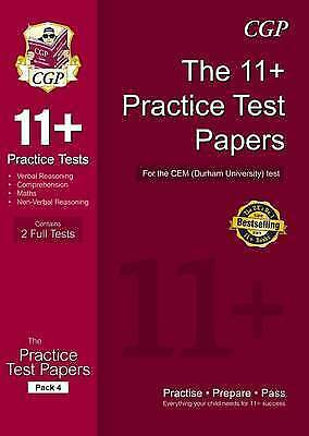 CGP 11+ Test Papers for CEM Test Pack 4, CGP Books, CHECK DESCRIPTION