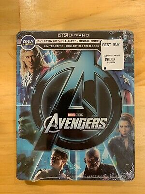 Avengers 4K UHD Bluray + digital Code. Limited Edition Steelbook. Brand New