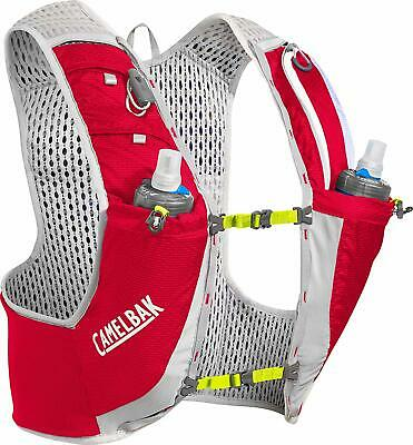 CamelBak Ultra Pro Vest 17oz Quick Stow Flask Hydration Pack Running Red
