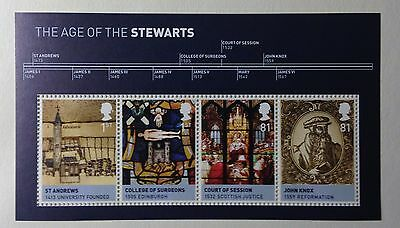 GB 2010  The Age of the Stewarts. Miniature Sheet MNH