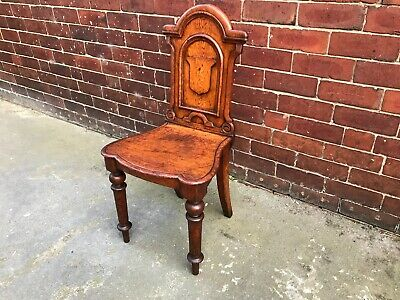 Antique Victorian Carved Oak Chair / Hall / Bedroom / Occasional Chair
