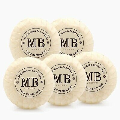MOLTON BROWN Mandarin & Clary Sage Soap Bars, PACK OF 5 (5x 50g)