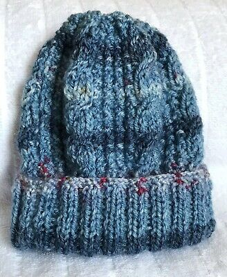 Brand New Hand Knitted Unisex Baby's Hat Size 0-3 Months Approx, Free Postage,