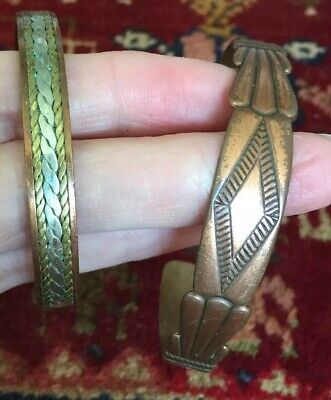 Pair Of Vintage Copper And Brass Bracelets