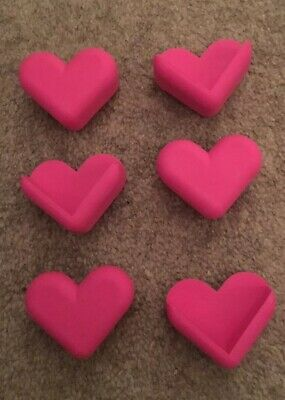 6x Pink Hearts Child Baby Safety Corners