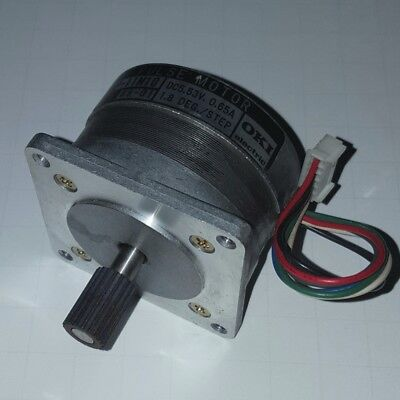 Oki Electric 5.53VDC 0.65A 1.8 Deg./Step Pulse Motor (Stepper) KHP-11M10