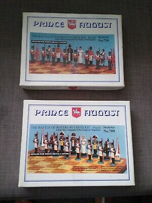 Prince August Chess Set model Moulds Wellington and Napoleon. Toy soldier.