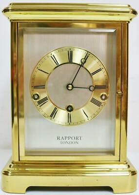 Rare Vintage Rapport 8 Day Triple Chime Musical 4 Glass Mantel Table Clock