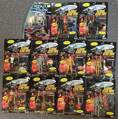 LOT Star Trek Classic Movie Series Playmates Action Figures NEW on Card