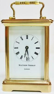 Vintage English Matthew Norman 8Day Timepiece Carriage Clock Platform Escapement