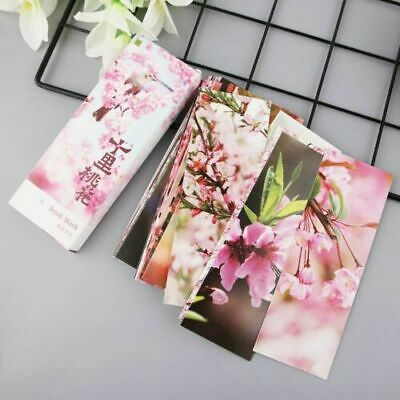 30pcs Peach Blossom Chinese Style Retro Paper Bookmarks Painting Bookmark Cards