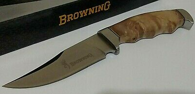 Browning Buck Mark Hunting Bowie Knife W/ Sheath Case !!!