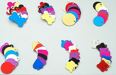 DOG & CAT Pet id Tags Animal Pets Name Disc Personalised 7 Colors  ENGRAVED