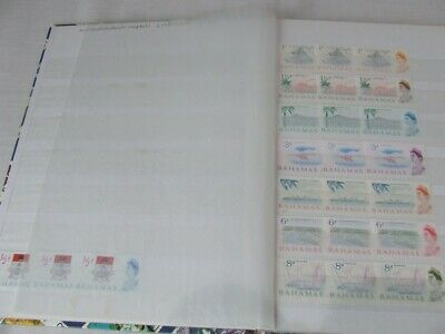 Pair Of Small Stamp Stockbooks, 8 White Pages, Vgc & Bermuda Stamps