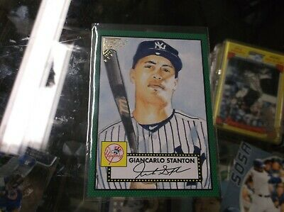 2018 Topps Gallery Heritage Giancarlo Stanton New York Yankees #H-36 GREEN #/250