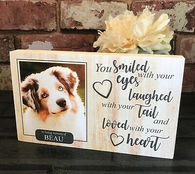 Dog Memorial Frame, Pet Memorial Gift, Pet Loss Plaque, Dog Loss, Rainbow Bridge