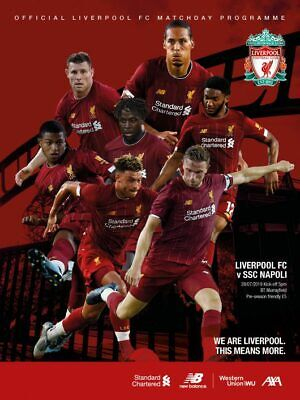 Liverpool v Napoli - Pre-Season Friendly - 28 July 2019 - Mint Condition.
