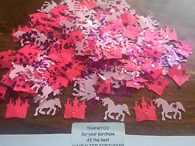20x500+ Unicorn Castle confetti birthday party table sprinkles 14g pink Princess