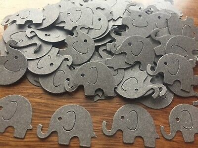 1000 RARE brown grey elephant party table Confetti CHRISTENING BABY SHOWER