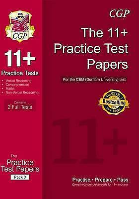 11+ Practice Tests for CEM Test Pack 3, CGP Books, CHECK DESCRIPTION