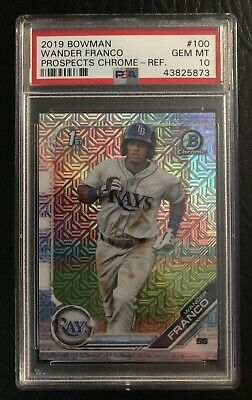 2019 Bowman Chrome Wander Franco Mega Box Mojo Refractor PSA 10 Gem Mint
