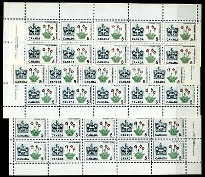 Weeda Canada 427i VF MNH M/S of blocks of 10, 1965 issue CV $21