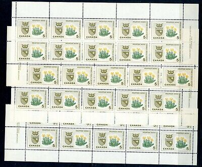 Weeda Canada 429 VF MNH M/S of blocks of 10, 1966 issue CV $14