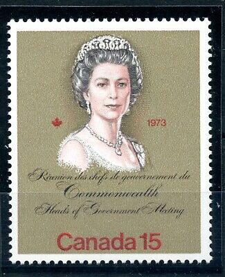 Weeda Canada 621 T1 VF MNH untagged error, 15c Royal Visit CV $75
