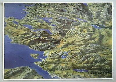 Aerial Panoramic Map 26 North West Highlands Ullapool To Lochinver Laminated