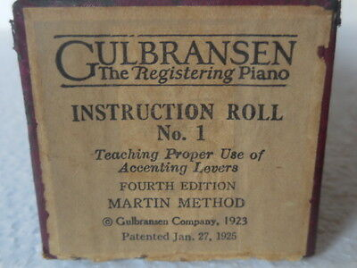 QULBRANSEN The registering Piano Instruction  Roll N.1-4° Edition- Martin Method
