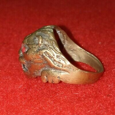 rare ancient Roman bronze ring viking artifact bronze ring authentic Vintage