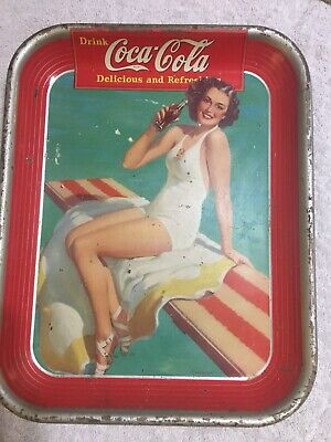 HOOVER DAM - 1935-1985 - 50th Anniversary Tray Sign - VINTAGE COKE