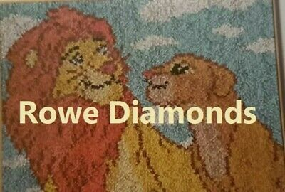 DIY Disney's the Lion King Simba & Nala  Make your own Rug Latch Hook Kit UK New