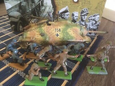king and country german Tank Hetzer 19 X Britains Deetail 1971 Soldiers