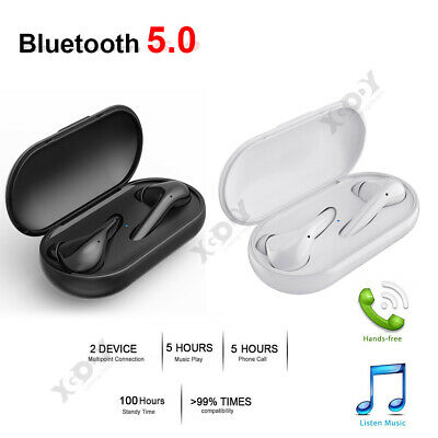 Bluetooth 5.0 Headset Wireless Earbuds Mini TWS Stereo Headphones W/Charger Box