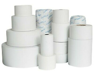 50 Rolls 76x76mm 1 Ply White Bond Paper Cash Register Receipt Rolls Non-Thermal