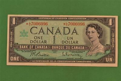 1954 Bank of Canada 1 Dollar Modified Portrait Replacement Note *LO 7006096